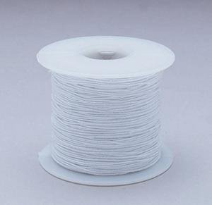 White Elastic Cord 100yd - Medium by S&S