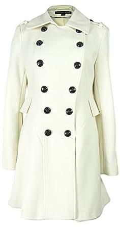 Via Spiga Women's Peplum Wool Blend Coat (6P, Winter White