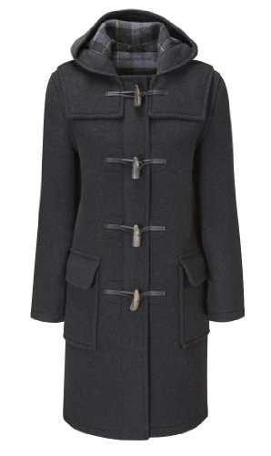Womens Long Duffle Coats -- Charcoal -- Size 36