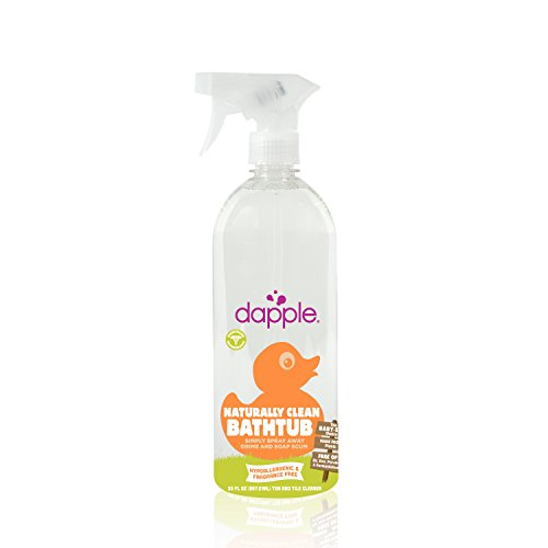 Dapple Naturally Clean Bathtub Fragrance-Free Spray, 30 Fluid Ounce - 1