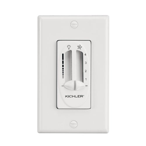 Kichler Lighting 337010WH Fan/Light Dual 4-Speed Slider Control, White Finish