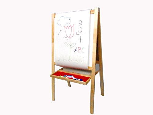 Children's Artist Easel Whiteboard Chalkboard And Paper Roll