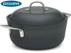 Calphalon Commercial Hard-Anodized 7-Quart Chef's Casserole with Lid