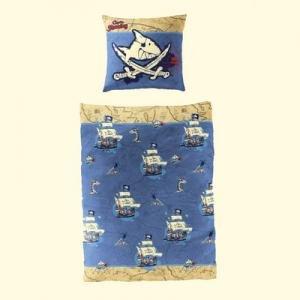 2 tlg. Bierbaum Bettwäsche Käpt'n Sharky blau Nr.533