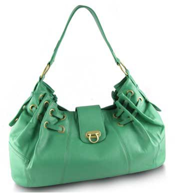 Large Over-sized Ramona Handbag (Blue Green)