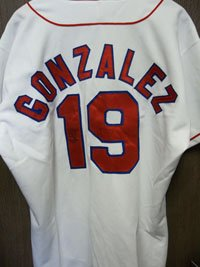 Signed Gonzalez, Juan (Texas Rangers) Authentic Russell Texas Rangers Jersey autographed at Amazon.com