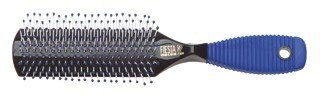 SIBEL FIESTA 9 Row hair brush with blue rubber handle