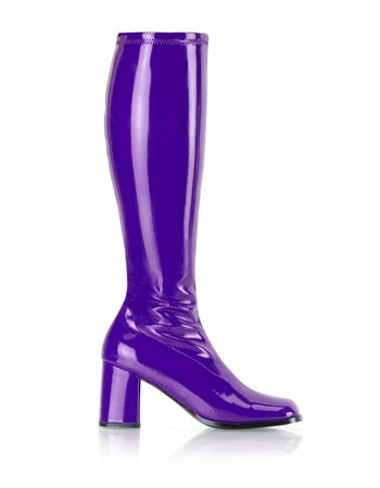 Purple Retro 70s Gogo Costume Boot - 8