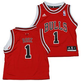 NBA Toddler Chicago Bulls Derrick Rose Away Replica Jersey - R24E6Bb5 (Red, 2T) at Amazon.com