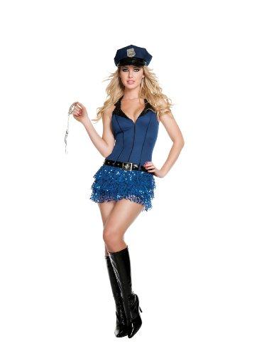 Starline Officer Hottie Sexy Cop Women's Costume Set, Blue, Small