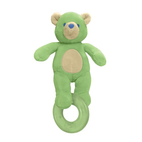 green sprouts Organic Terry Circus Animal Teether-Sage Bear