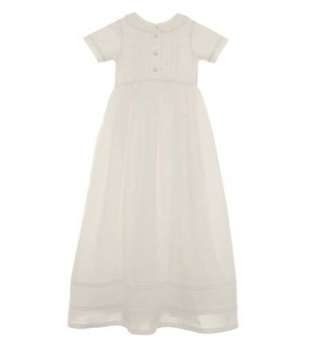 For Sale Kitestrings Baby-Boys Newborn Cotton Christening Gown And Bonnet Set, White, 3-6 Months