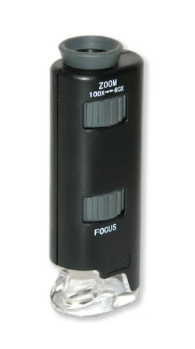 Carson MM-200 Carson Micromax LED 60X-100X LED Lighted Pocket Microscope