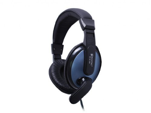 Somic Dt-2102 Stereo Mic Volume Control Headset Blue