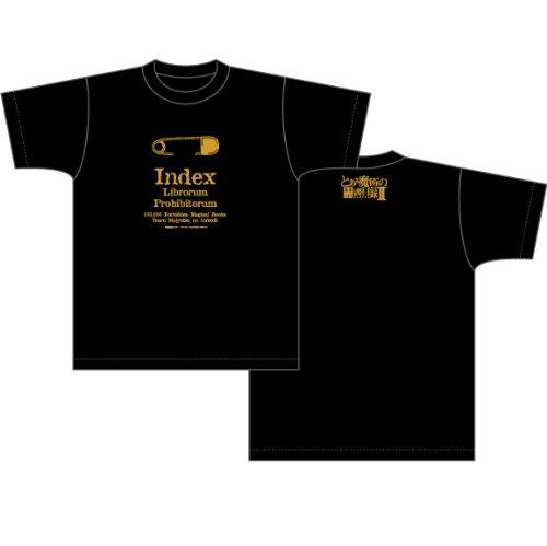 とある魔術の禁書目録II Safety pin柄 Tシャツ ブラック サイズ:M