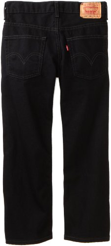 Levi's Big Boys' 550 Relaxed Fit Jean, Black Magic, 11 Slim