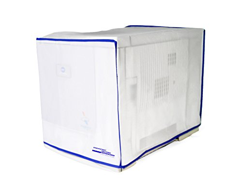 Computer Dust Solutions Printer Dust Cover, Covers Inkjet Or Laser Printers, Silky Smooth Antistatic Vinyl, Translucent Coconut Cream Color With Blue Trim, Several Sizes Available, (22W X21H X24D) front-305498