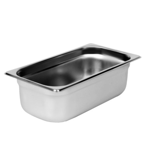 Excellante Third Size 4-Inch Deep 24 Gauge Anti Jam Pans