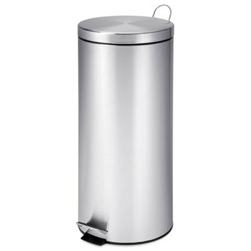 honey-can-do-trs-02110-poubelle-ronde-en-acier-inoxydable-metal-chrome-292-x-292-x-635-cm-30-l