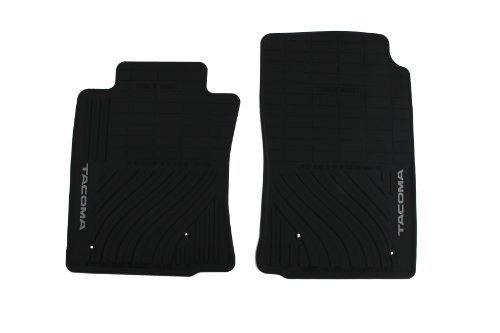 Genuine Toyota Accessories PT908-35000-02 Front All-Weather Floor Mat (Black), Set of 2 by Toyota (All Weather Mat Cleaner compare prices)