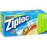 Ziploc Sandwich Bags, Bonus Pack 120...