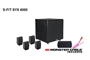 Pinnacle Speakers S-FIT SYS 6000 5.1 Speaker System - Vinyl Black