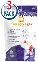 Happy Baby happyyogis Organic Superfoods Yogurt & Fruit Snacks Mixed Berry -- 1 oz Each / Pack of 3