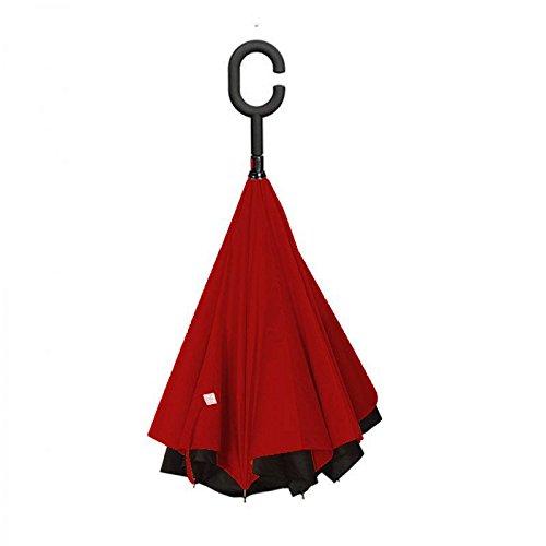 SUPRELLA PRO. Das Original.   Der Regenschirm - neu erfunden. (Schwarz-Rot) -