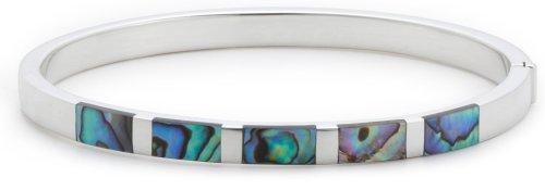 Silver Paua Shell Bangle