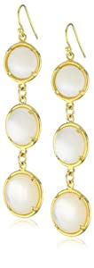 "TAT2 Designs ""Coin"" Gold Mother-Of-Pearl Earrings"