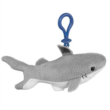 Black Tip Stuffed Shark Clip Toy Keychain By Wild Life Artist - 1