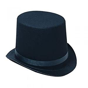 Deluxe Black Magician Butler Formal Costume Top Hat by Rhode Island Novelty