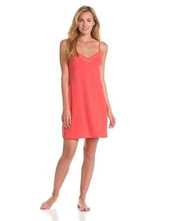 (美艳)  Calvin Klein CK女士高级蕾丝吊带睡衣 Harem Rhodocrosite  $23.53