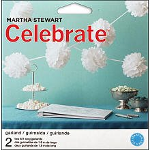 Martha Stewart Crafts Garland, White Pom Pom
