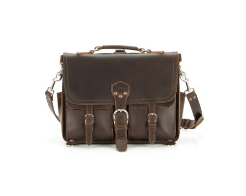 Saddleback Leather Medium Front Pocket Briefcase in Dark Coffee Brown