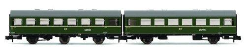 Arnold-HN4136-Reko-Wagen-der-Deutschen-Reichsbahn-2-teiliges-Set