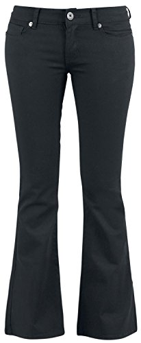 Black Premium by EMP Corded Extra Boot (Boot-Cut) Pantaloni donna nero W32L32
