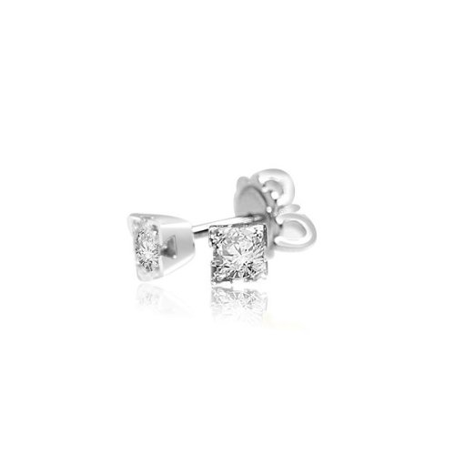 0.60ct Round Brilliant Diamond Stud Earrings for Women H/SI1 in 18ct white gold -E103
