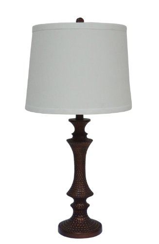 Fangio Lighting 6161 Resin Table Lamp, 28-Inch, Antique Gold Finish front-723732