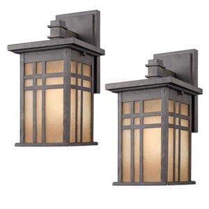 laurel designs outdoor wall light fixture dark bronze