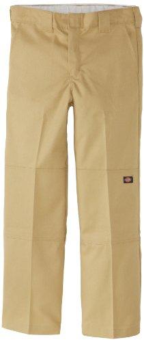 Dickies Big Boys' Flex Waist Double Knee Pant With Extra Pocket, Desert Sand, 12 Husky