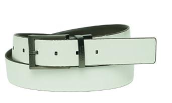 Kenneth Cole Reaction Reversible Belt Grey / White Men's 32
