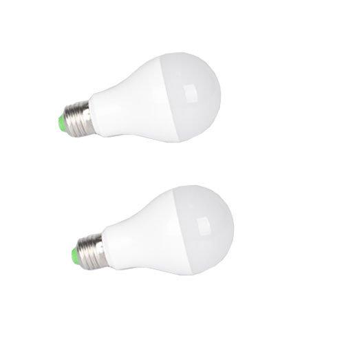 SmartDealsPro 2-Pack AC100-240V 12W 6000K White E27 LED Lights Bulb Lamp 960 Lumen, 100W Incandescent Bulb Replacement Plus Free Cable Tie