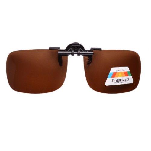 Eyekepper Sonnenbrillen-Clip für Brillenträger Braun