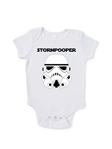 Stormpooper Baby Grow Birthday Gift Present Cute Star Wars Inspired front-846130