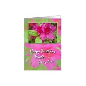 Amazon.com: Birthday Card for Aunt, Azaleas Card: Healt