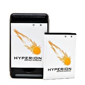 Hyperion Samsung Droid Charge i510 2 x Battery + Charger (Also Compatible with Samsung 4G LTE Mobile Hotspot LC11, Continuum i400, and Gem i100)