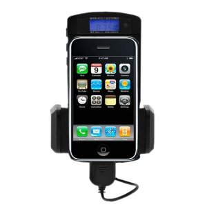 GSI Super Quality Wireless Hands-Free 7-in-1 Dock-Mount-Charger-FM Transmitter-Car Kit, for Ipod, IPhone 4G/3G/S, MP3, MP4, Laptop, Game Systems, CD and DVD Players - Includes Remote Control, LCD Display - Cigarette Lighter Plug-In