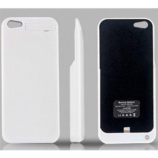 iPhone5ジャストフィット充電保護ケース スタイリッシュ 両サイド保護カバー付き iPhone5専用リチウム内蔵2000mahバッテリーケース FS-IP5BAT2000-WH ホワイト