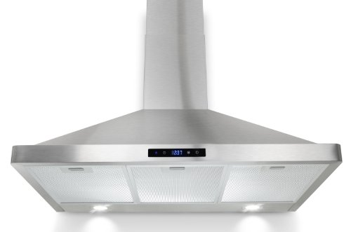 """Akdy 36"""" Kitchen Wall Mount Touch Panel Stainless Steel Range Hood Az63190-S14 Stove Vents"""